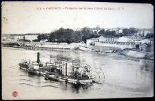 FRANCE~1904 VALENCE ~ Basse Ville et les Quai ~ FERRY BOAT ~ Steamship
