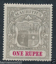 Mauritius stamp 1902 one Rupee 1R MH