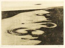 OTTO EGLAU - LAND UND MEER III - Radierung / Aquatinta 1970