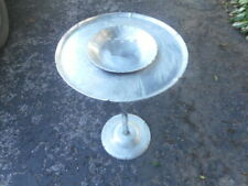 RARE MID CENTURY WENDELL AUGUST FORGE HAMMERED ALUMINUM PINE CONE SMOKING STAND