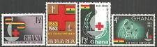 Ghana - 100 Jahre Internationales Rotes Kreuz Satz postfrisch 1963  Mi.Nr.145/48
