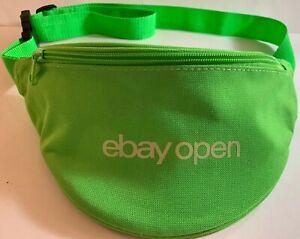 EBay Open Fanny Pack 2019 Neon Green Two Zipper Pockets Waist Belt (f)