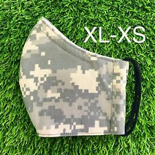 Camouflage Face Mask Water Resistant Filter Pocket Nose Wire US Handmade