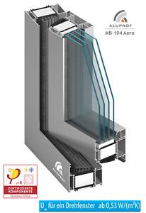 Passivhasufenster - Fenster aus Polen - Alu, Aluminium, Aluprof MB-104 Passiv