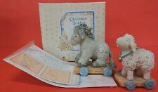 1993 Cherished Teddies Sheep Donkey Pull Toy Nativity Figurines 912867