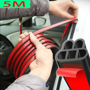 5M L Shape Car Door Rubber Seal Strip Hood Trunk Trim Edge Moulding Soundproof