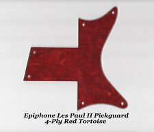 Les Paul II Two 2 LP 4-Ply Red Tortoise Custom Pickguard for Epiphone Project