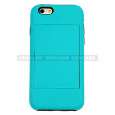 Apple iPhone 6S, 6S PLUS Hybrid Hard Credit Card ID Holder Case Skin Phone Cover