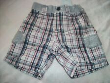 C29 Nwt Gymboree Boy Shorts Blue Plaid Elastic waist 6-12 mo New