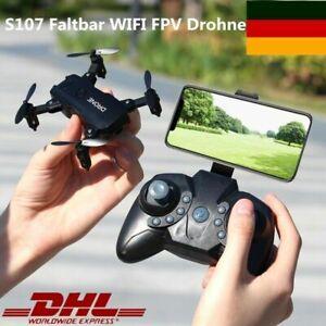 S107 Faltbar WIFI FPV Drohne 4K HD Kamera Mini Selfie Quadrocopter RC Drone DHL