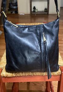 HOBO Drifter Women's Vintage Hide Leather Crossbody Shoulder Bag Purse Black
