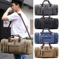New Men's Large Canvas Luggage Gym Sports Bag Duffel Pack Travel Luggage Bag