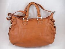NUOVEDIVE Orange Leather Shoulder Purse Handbag Italy