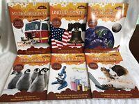 Lot of 6 Our World Workbooks Science Animals Space U.S Grade 2 School Homeschool