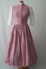 Vintage German pink dirndl steampunk victorian dress 10