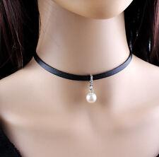 Damen Halsband Choker Halskette Halsschmuck Barock Perlen 024(NEU)