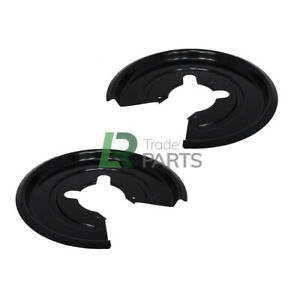 LAND ROVER DISCOVERY 2 REAR BRAKE MOUNTING BACK PLATES X2 MUD SHIELDS LHS & RHS