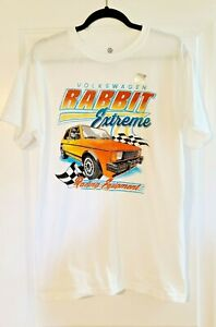 Volkswagen VW Rabbit Extreme Racing Equipment White T-Shirt Tee Men's medium new