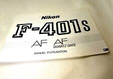 Nikon F-401S AF Instruction Manual camera  Francais F Manual D'utilisation