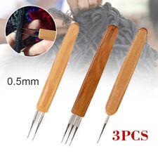 3x 0.5mm Crochet Needle Hook Tool Making Dreadlock Braiding Hair US Seller