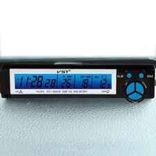 12V Car LCD LED Digital Voltage Monitor Temperature Thermometer Meter Clock