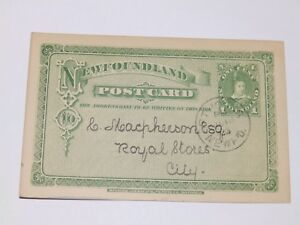 (A476) 1903 NEWFOUNDLAND USED POSTCARD FROM BRITISH & FOREIGN BIBLE SOCIETY