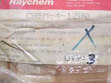 CRSM-4-1200, Raychem, 1/C wraparound heat shrinkable repair sleeve (1000V)