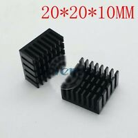 5pcs 20x20x10mm Heat Sink AL Cooling Fin For Power Transistor/ /IC TO-220  Black