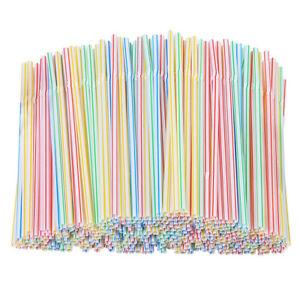 1000pcs Plastic Black Bendy Straws Birthday Wedding Summer Party Cocktail Drink