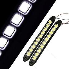2pcs White 12V LED Daytime Running Light DRL COB Car Fog Day Driving Lamp Lights
