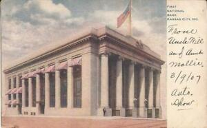 Kansas City, MISSOURI - First National Bank - 1907 - ARCHITECTURE - flag