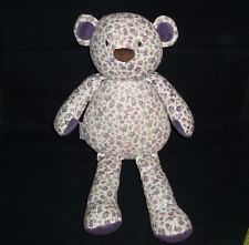 Cocalo Baby Sugar Plum Teddy Bear Stuffed Animal Lovey Toy Pink Purple Floral