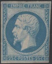 "FRANCE STAMP TIMBRE N° 15 "" NAPOLEON III 25c BLEU 1853 "" NEUF x  A VOIR K021"
