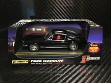 Pioneer Slot Car 1968 Ford Mustang Fastback GT Jet Black Route 66 P056