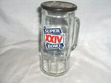 #639-Super Bowl Xxiv Tall Glass Mug, Cup - Peanut Mug - 49Er'S Beat Broncos 1990