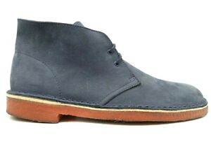Clarks Originals Navy Blue Casual Lace Up Chukka Ankle Boots Shoes Men's 9 M
