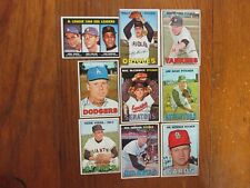 9-1967 Topps Baseball Cards(w/SANDY KOUFAX LEADERS/WHITEY FORD/WALLY BUNKER(Hi #