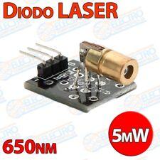 Modulo KY-008 Diodo Laser ROJO 650nm 5mW 5v 6mm - Arduino Electronica DIY