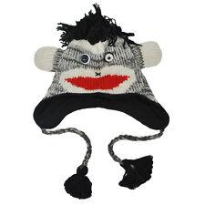 Women's 100% Wool Fleece Lined  Fun Animal Winter Hat - 80223