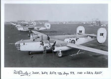 AA1 B-24 RAF WW2 WWII Liberator photo hand signed Cundy DSO DFC U-boat sinker