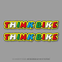 2 x Rossi Style Think Bike Vinyl Stickers Car Truck Van - 141mm x 25mm - SKU2653