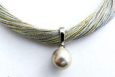 Perlen-Halsketten & -Anhänger im Collier-Stil aus Edelstahl mit Süßwasser