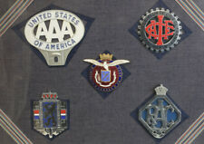Collection Five Vintage Car Badges Grill Emblems AAA American Automobile