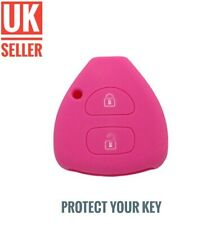 Pink Silicone Flip Key Cover Fob For RAV4 COROLLA PRADO CAMRY HILUX /-ci1a-/