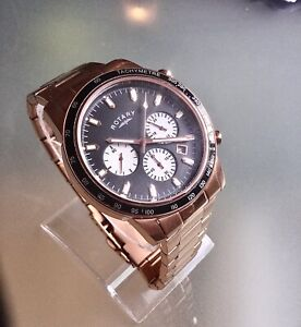 ROTARY MENS WATCH GB00355/05 CHRONOGRAPH ROSE GOLD STAINLESS STEEL Repair