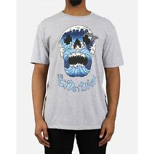 Pink Dolphin Tsunami Skull T-Shirt - Gray  2XL Street Ware
