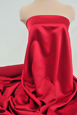 "DUCHESS SATIN FABRIC ROJA RED   58"" BTY WEDDING BRIDESMAIDS  SUITS"