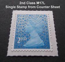 2017 2nd classe M17L code Machin unique TIMBRE de contre-feuille de menthe, Simple Arrière