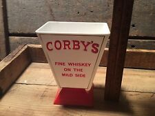 Vintage Corby's Whiskey Advertising Plastic Mixer / Holder