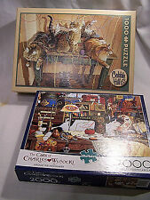 Puzzels Charles Wysocki Maggie the Messmaker 2000 pc & Cobble Hill Table Manners